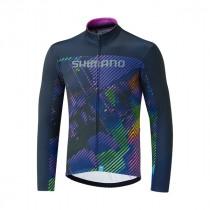 Shimano team maillot de cyclisme à manches longues violet