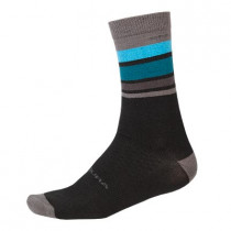 Endura Baabaa Merino Stripe Sock - Black