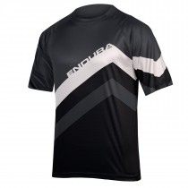 Endura singletrack core print maillot de cyclisme manches courtes noir