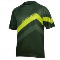 Endura singletrack core print maillot de cyclisme manches courtes forest vert