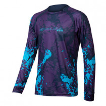 Endura Mt500 Animo L/S Tee - Electric Blue