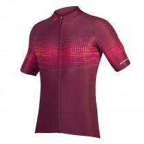 Endura psychotropical graphics wave maillot de cyclisme manches courtes mulberry rouge