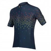 Endura psychotropical graphics scatter maillot de cyclisme manches courtes navy bleu