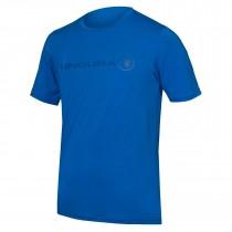 Endura singletrack merino maillot de cyclisme manches courtes azure bleu