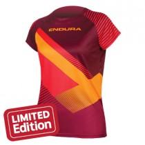 Endura singletrack print T II maillot de cyclisme manches courtes femme mulberry