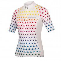 Endura triangulate maillot de cyclisme manches courtes femme blanc