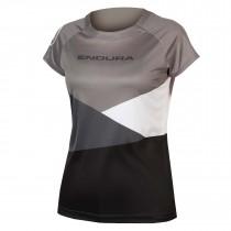 Endura singletrack core print maillot de cyclisme manches courtes femme noir
