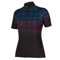 Endura psychotropical graphics maze maillot de cyclisme manches courtes femme noir