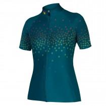 Endura psychotropical graphics scatter maillot de cyclisme manches courtes femme kingfisher vert