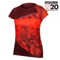 Endura Women's SingleTrack Dots T LTD - Hi Viz Koraal
