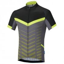 Shimano climbers maillot de cyclisme manches courtes neon jaune