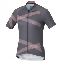 Shimano team maillot de cyclisme manches courtes femme gris