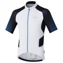 Shimano mirror cool maillot de cyclisme manches courtes blanc