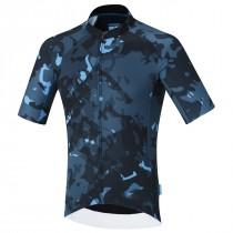 Shimano breakaway maillot de cyclisme manches courtes neon bleu