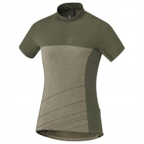 Shimano trail maillot de cyclisme manches courtes femme dusky vert