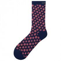 Shimano original tall chaussettes de cyclisme navy rose