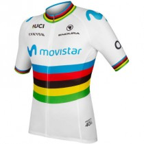 Endura Movistar world champ maillot de cyclisme à manches courtes 2019
