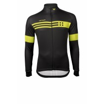 Vermarc squadra maillot de cyclisme manches longues noir jaune fluorescent