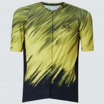 Oakley endurance 2.0 maillot de cyclisme à manches courtes radiant jaune