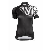Vermarc grafica maillot de cyclisme manches courtes femme noir blanc