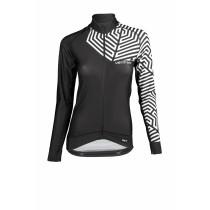 Vermarc grafica maillot de cyclisme manches longues femme noir blanc
