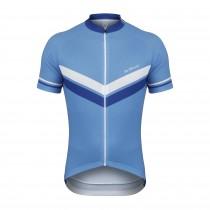 De Marchi granturismo maillot de cyclisme manches courtes bleu