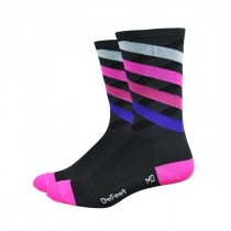 Defeet aireator high top chaussettes crossing rose