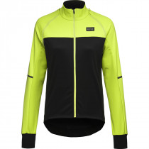 Gore Wear Phantom Jacket Womens - Black/Neon Yellow