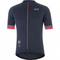 Gore Wear Cancellara Jersey Mens - Orbit Blue/Red