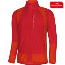 Gore bike wear power trail gore windstopper insulated veste de cyclisme rouge