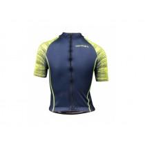Vermarc seiso sp.l aero maillot de cyclisme manches courtes enfants navy bleu fluo jaune