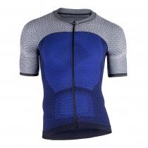 Uyn alpha maillot de cyclisme manches courtes medieval bleu sleet gris