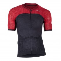 Uyn alpha maillot de cyclisme manches courtes charcoal gris bitter rouge