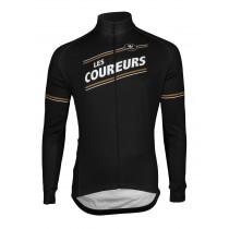 Vermarc les coureurs maillot de cyclisme à manches longues noir