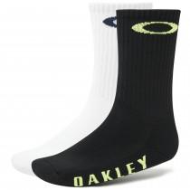 Oakley ellipse on top chaussettes de cyclisme blackout noir blanc 2-pack