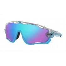 Oakley jawbreaker fietsbril crystal pop blauw mat clear - prizm sapphire lens