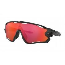 Oakley jawbreaker fietsbril mat zwart - prizm trail torch lens