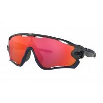 Oakley jawbreaker lunettes de cyclisme carbon - prizm trail torch lentille