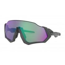 Oakley Flight Jacket Fietsbril Matte Steel - Prizm Road Jade Lens