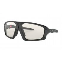 Oakley field jacket fietsbril mat zwart - clear black iridium photochromic lens