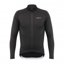 De Marchi classica sportwool maillot de cyclisme à manches longues noir