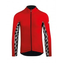 Assos mille gt spring/fall maillot de cyclisme manches longues national rouge