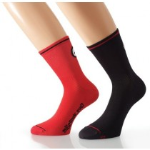 ASSOS Mille Evo 7 Sock National Red Black (2 Pairs)