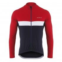 De Marchi monza roubaix light maillot de cyclisme manches longues rouge ink bleu