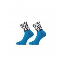 Assos monogram evo 8 chaussettes noir calypso bleu