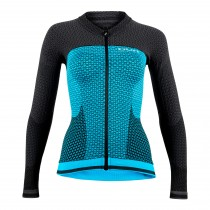 Uyn Alpha Maillot Velo Femme Manches Longues - Ocean/Charcoal
