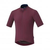 Shimano evolve maillot de cyclisme manches courtes zinfandel rouge