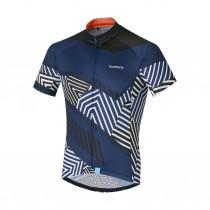 Shimano climbers maillot de cyclisme manches courtes navy
