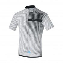 Shimano climbers maillot de cyclisme manches courtes blanc