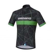 Shimano team maillot de cyclisme manches courtes noir